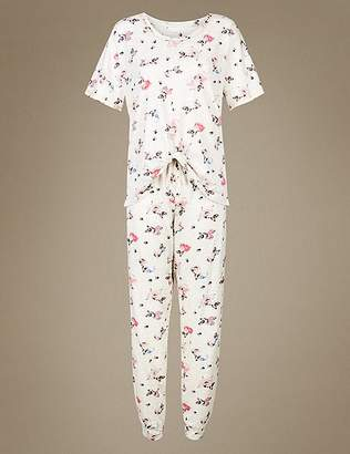Marks and Spencer Dog Print Short Sleeve Pyjama Set