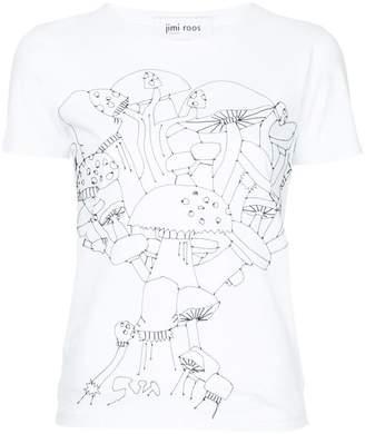 Jimi Roos embroidered mushroom T-shirt
