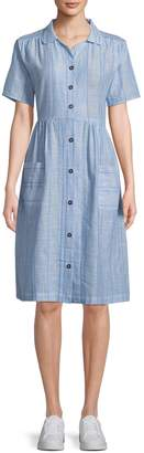Solid & Striped Women's Cotton Button-Front Shirtdress