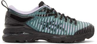Asics Kiko Kostadinov Black and Green Edition Gel-Delva Sneakers