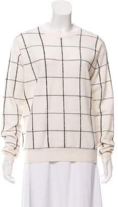 Theory Window Check Merino Wool Sweater