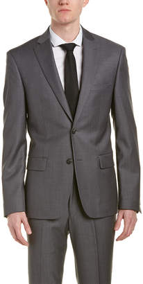 DKNY Dominic Wool Suit W/ Flat Front Pant