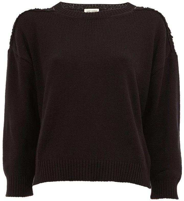 Saint LaurentSaint Laurent grunge crew neck sweater