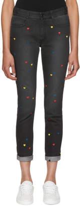 Stella McCartney Black Heart Skinny Boyfriend Jeans