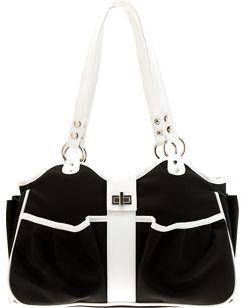 Mia Bossi Caryn Diaper Bag- Black / White