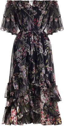 Zimmermann Curacao Palm Shoulder Dress