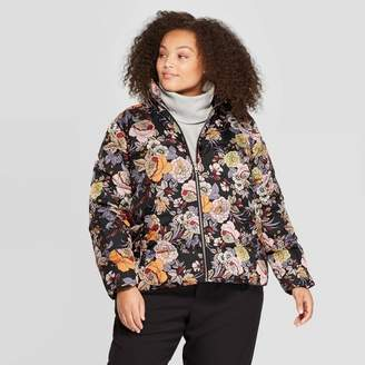 Who What Wear Women's Plus Size Floral Print Long Sleeve Jacket - Who What WearTM