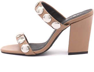 Sol Sana Sheri heel Tan Sandals Womens Shoes Casual Heeled Sandals