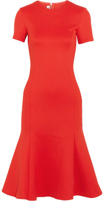 McQ Alexander McQueen - Fluted Stretch-crepe Midi Dress - Red $495 thestylecure.com