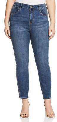 Seven7 Jeans Plus Embroidered-Trim Skinny Jeans in Alyx