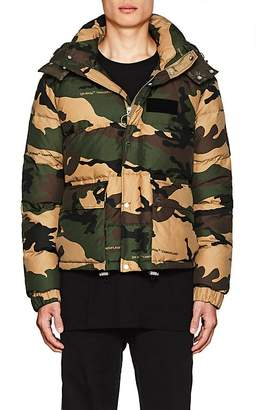 Off-White Men's Camouflage Down Puffer Coat
