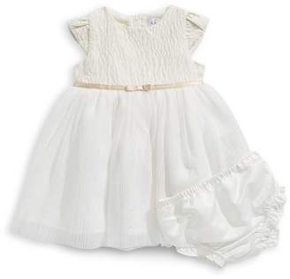 4ever Free Infant Girl's 2-Piece Pleated Mesh Dress Set