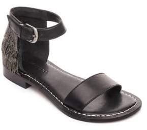 Bernardo Taci Leather Ankle Strap Sandals
