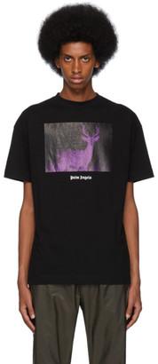 Palm Angels Black Night Vision Deer T-Shirt