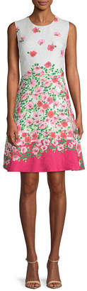 Karl Lagerfeld Floral A-Line Dress