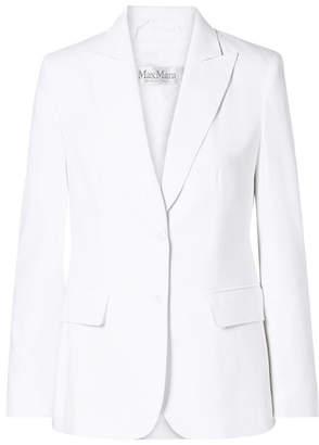 Max Mara Saloon Cotton-twill Blazer - White