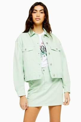 Topshop Mint Boxy Denim Jacket