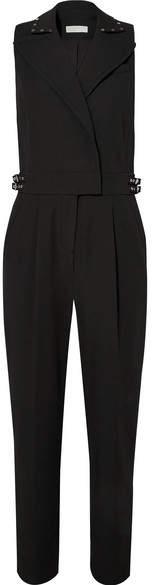 Embellished Crepe Jumpsuit - Black