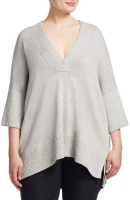 Lafayette 148 New York Lafayette 148 New York, Plus Size Relaxed V-Neck Sweater