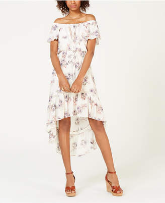 American Rag Juniors' Off-The-Shoulder High-Low Dress