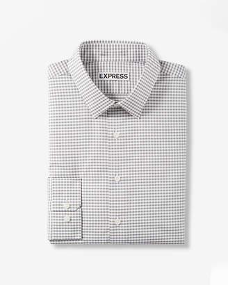Express Extra Slim Fit Micro Check Print Dress Shirt