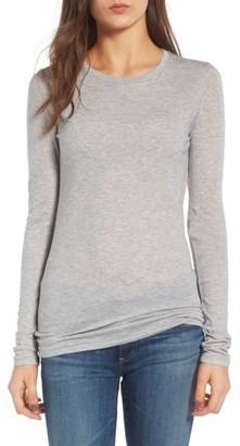 Women's Ag The Logan Cotton & Cashmere Tee $148 thestylecure.com
