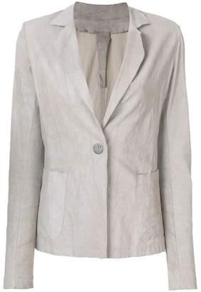 Vanderwilt fitted leather blazer