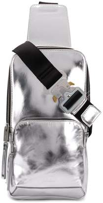 1017 ALYX 9SM silver-toned metallic cross body backpack