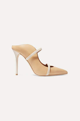 Malone Souliers Maureen 100 Leather Mules - Sand