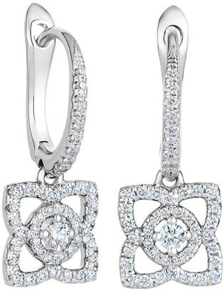 De Beers White Gold Enchanted Lotus Sleeper Earrings