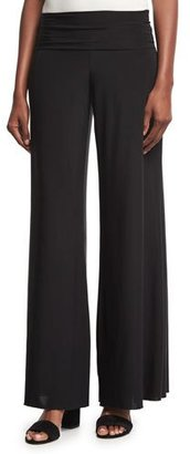 NIC+ZOE Feel Good High-Waist Wide-Leg Pants, Black Onyx $118 thestylecure.com