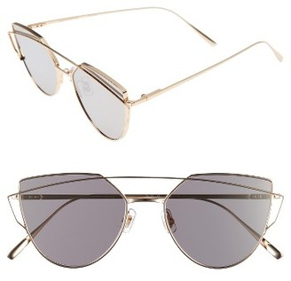 Women's Gentle Monster Love Punch 55Mm Titanium Aviator Sunglasses - Gold Mirror $290 thestylecure.com
