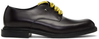 Fendi Black Logo Laces Derbys