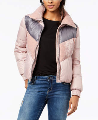 Andrew Marc Bedford Colorblocked Puffer Coat
