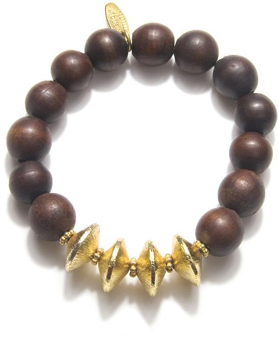 Wendy Mink Wood Beaded Bracelet