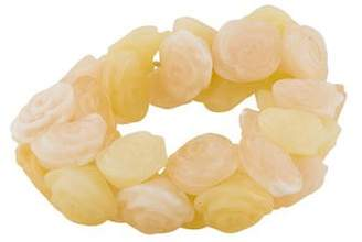 Chanel Resin Rose Bead Stretch Bracelet