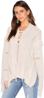 Goddis Ryley Lace Up Sweater $255 thestylecure.com