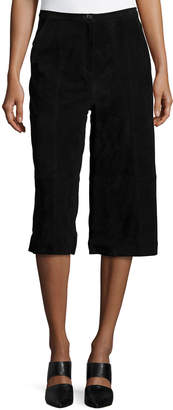 Neiman Marcus Suede Culottes, Black