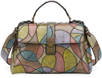 Bottega Veneta Ayers Patchwork Piazza Shoulder Bag