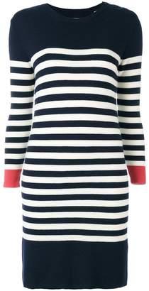 Parker Chinti & knitted breton striped dress