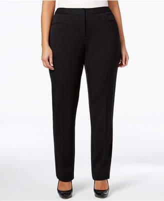 Alfani Plus Size Modern Straight-Leg Pants