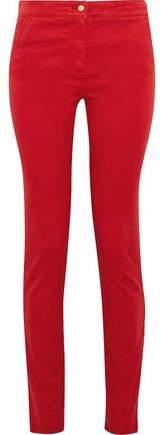 Stretch-Cotton Twill Skinny Pants