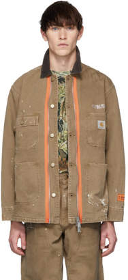Heron Preston Tan Carhartt Edition Style Jacket