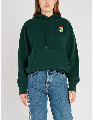 Sandro x The Muppet Show embroidered-frog cotton hoody