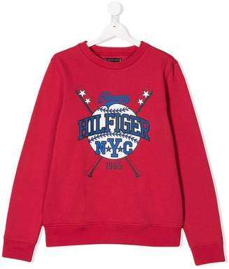 Tommy Hilfiger Junior TEEN logo printed sweatshirt