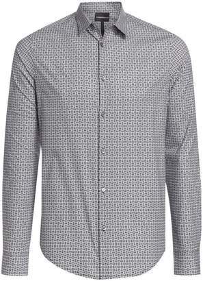 Emporio Armani Geometric Medallion Cotton Shirt