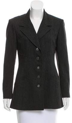 Chanel Wool Notch-Collar Blazer