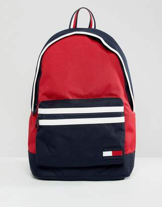 Tommy Hilfiger Nylon Backpack Icon Colors in Red/Navy/White