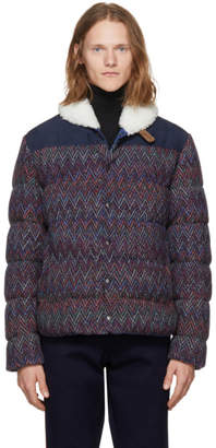 Missoni Reversible Navy Down Zig Zag Jacket