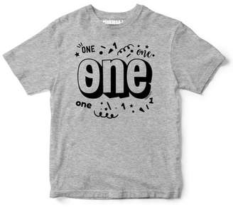 "Sprinkles And Jam ""One"" Confetti Style Boys 1st Birthday Boy Shirt Slim Fit Birthday Tshirt"